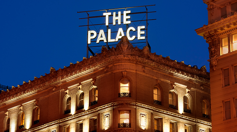 palace hotel a luxury collection hotel exterior sign