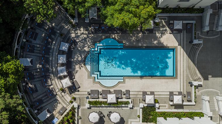palacio tangara pool aerial