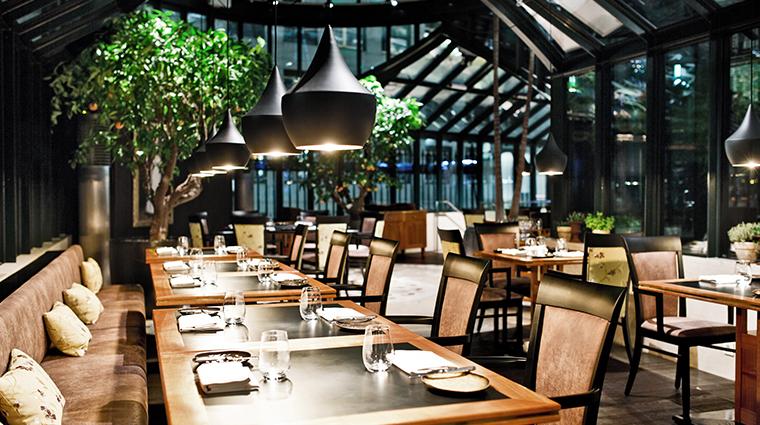 palais coburg Glashaus dining area