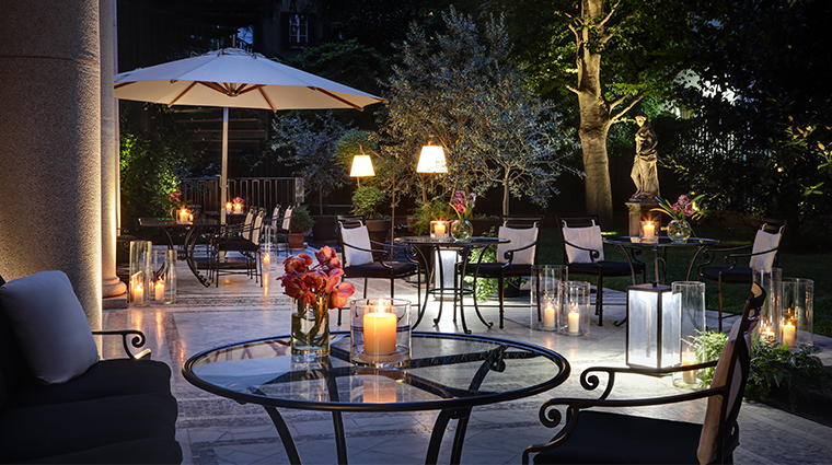 palazzo parigi hotel grand spa milano private garden night