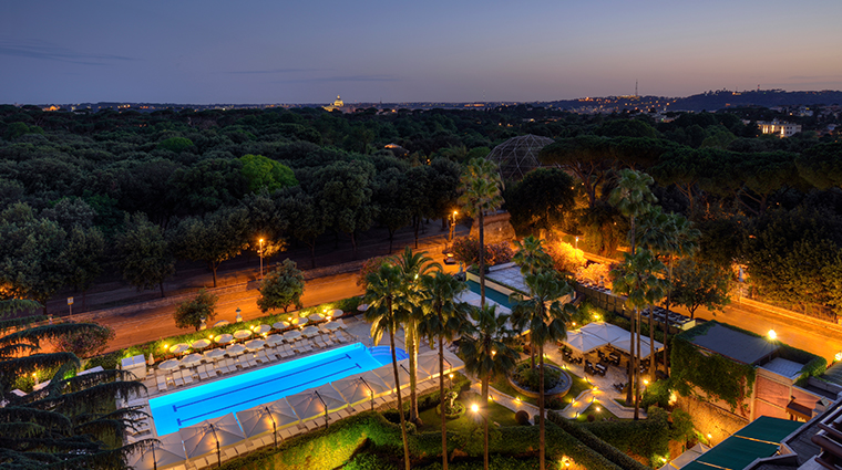 parco dei principi grand hotel spa night view