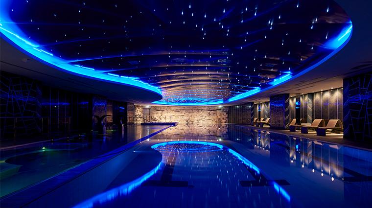 parco dei principi grand hotel spa pool lights