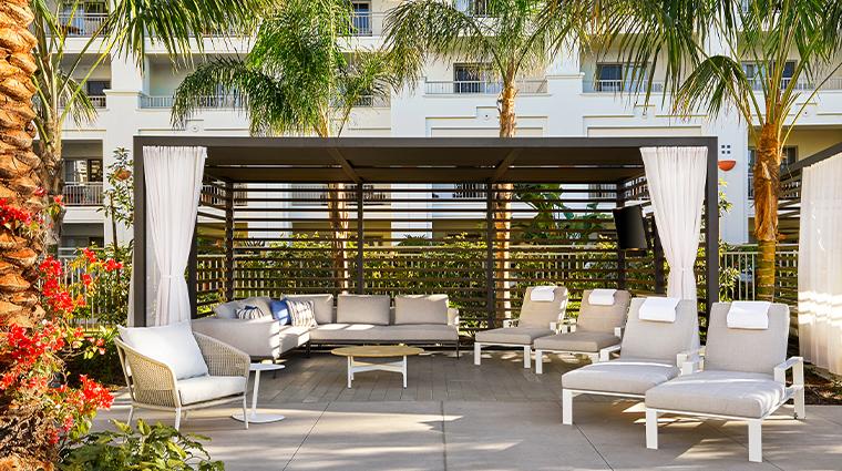 park hyatt aviara resort family cabana setup