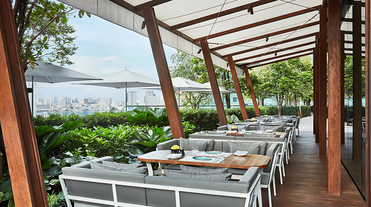 park hyatt bangkok outdoor dining