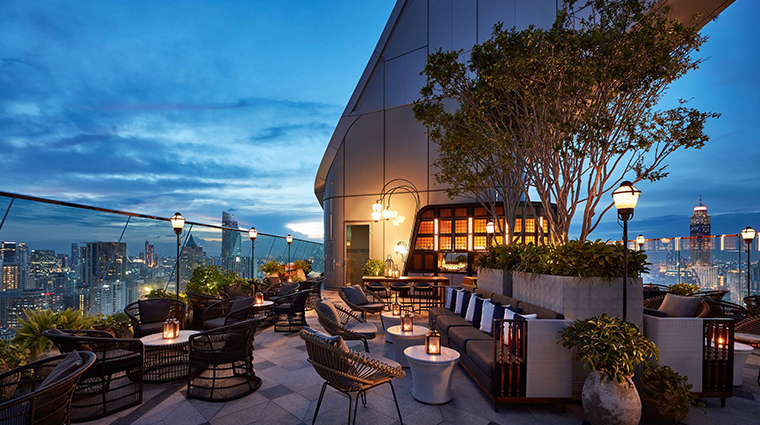 park hyatt bangkok rooftop night