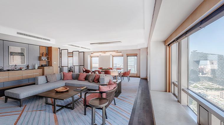 park hyatt beijing executive suite living room view