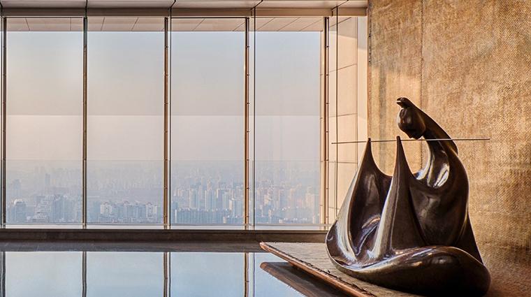 park hyatt beijing lobby flute statue