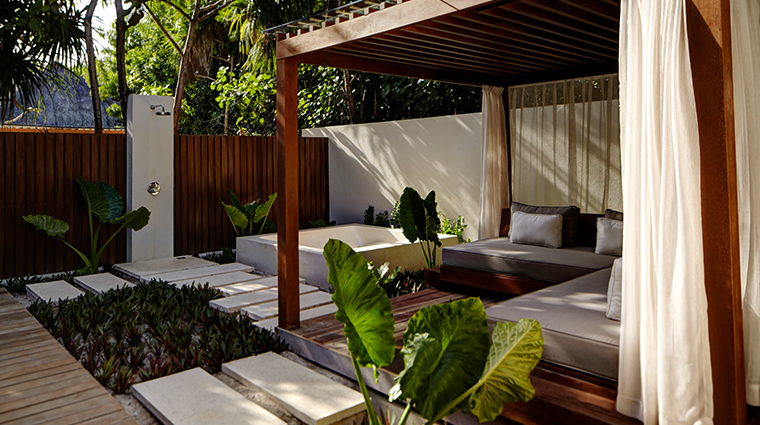 park hyatt maldives hadahaa outdoor shower