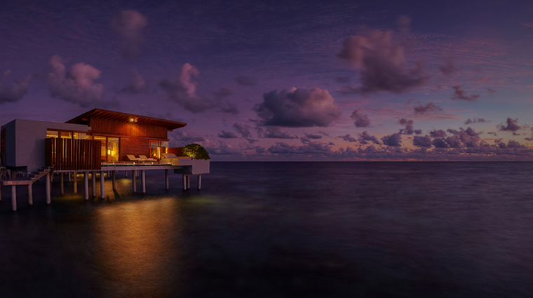 park hyatt maldives hadahaa park water villa night exterior