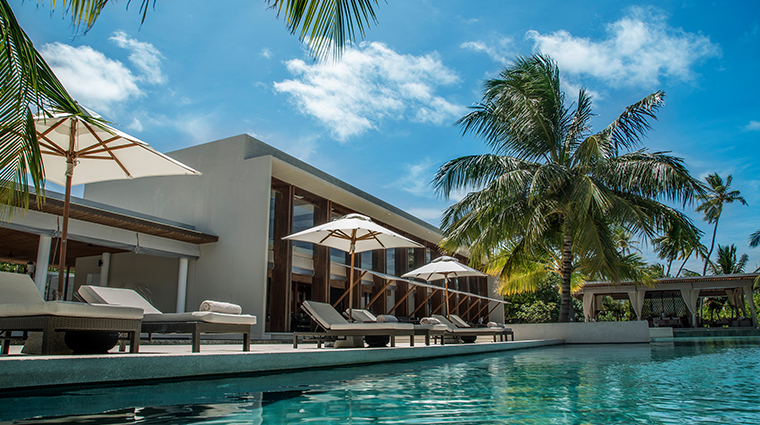 park hyatt maldives hadahaa pool loungers