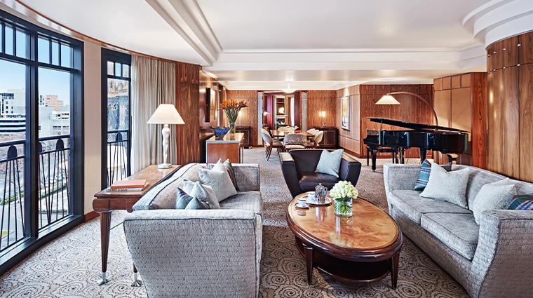 park hyatt melbourne presidential living room angle
