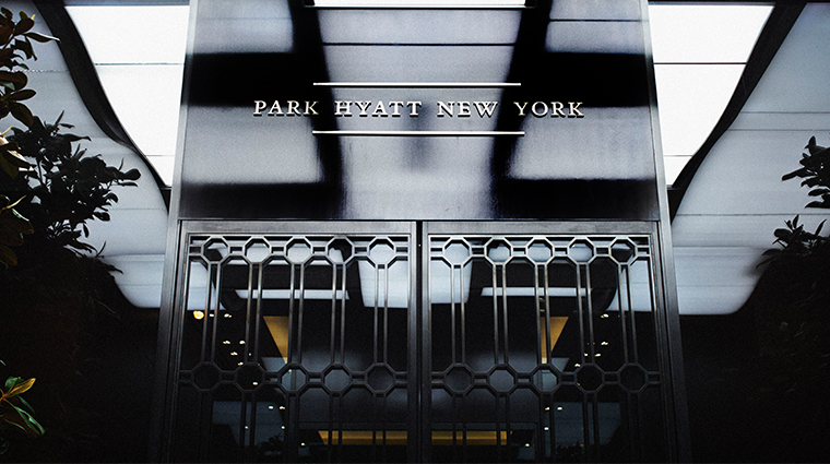 park hyatt new york signage