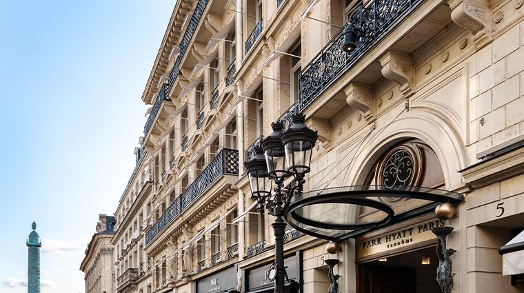 park hyatt paris vendome facade rue de la paix colonne vendome