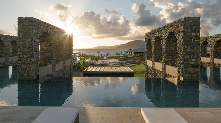 park hyatt saint kitts christophe harbour pool sunset