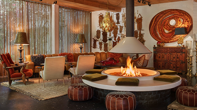 parker palm springs lobby lounge