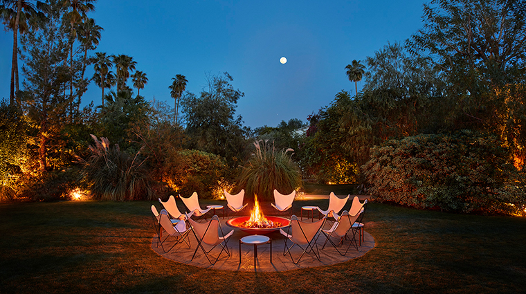 parker palm springs outdoor firepit