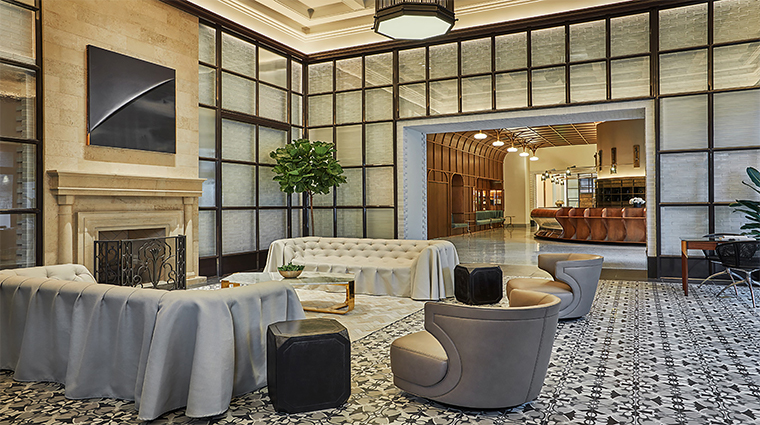 pendry san diego lobby reception desk