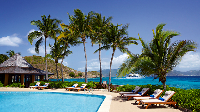peter island resort spa pool in daytime