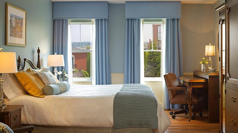 portland harbor hotel guestroom suite bed