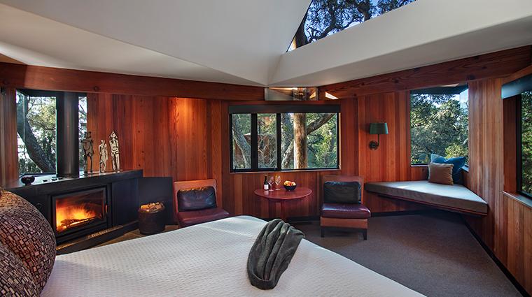 post ranch inn ranch tree house interior