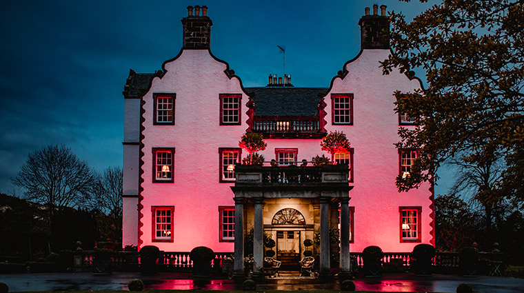 prestonfield house edinburgh exterior night