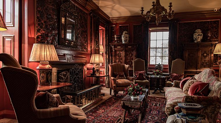 prestonfield house edinburgh leather room