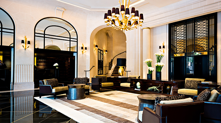 prince de galles a luxury collection hotel lobby