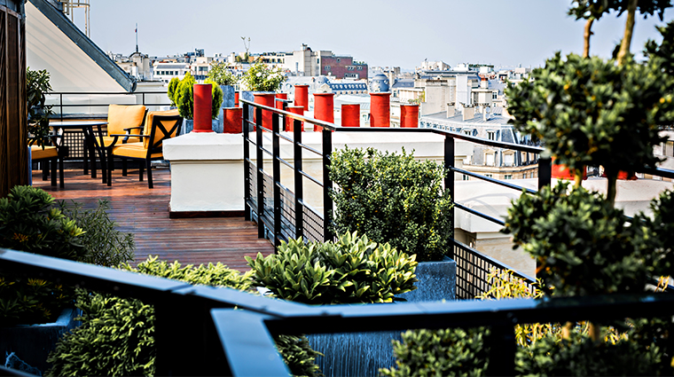 prince de galles a luxury collection hotel parisian rooftop terrace