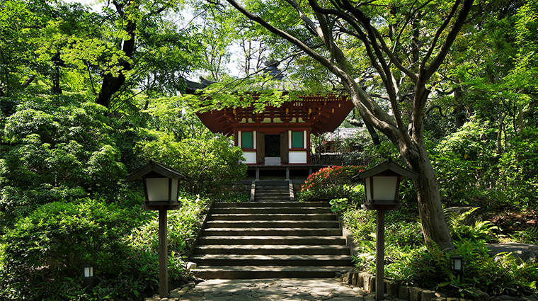 prince sakura tower tokyo japanese garden summer