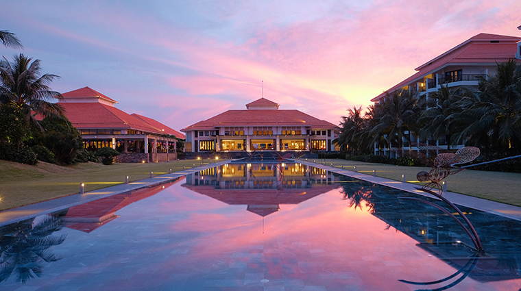 pullman danang beach resort exterior sunset