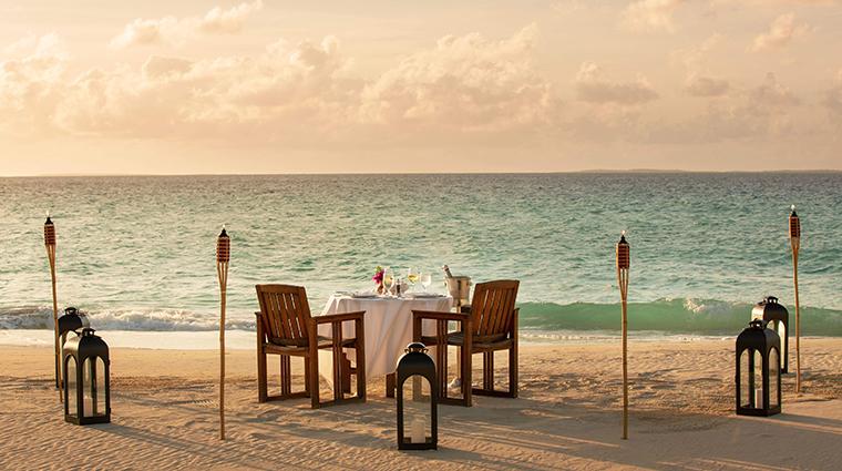 quintessence hotel beach dinner