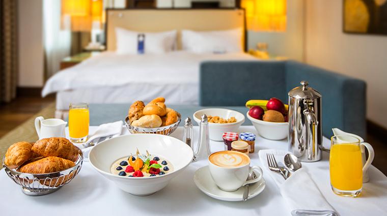 radisson blu alcron hotel breakfast in room