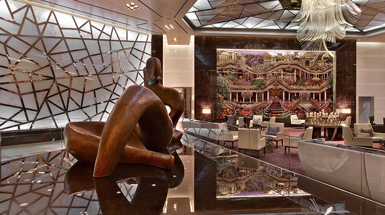 raffles istanbul lobby statue