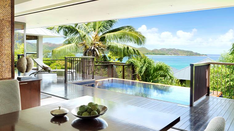 raffles seychelles One Bedroom Oceanview Villa Dining