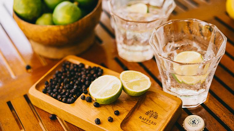 raffles seychelles gin amenities