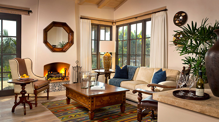 rancho valencia resort spa casita suite living room