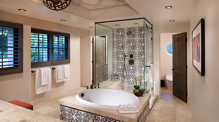 rancho valencia resort spa olive grove suite bathroom