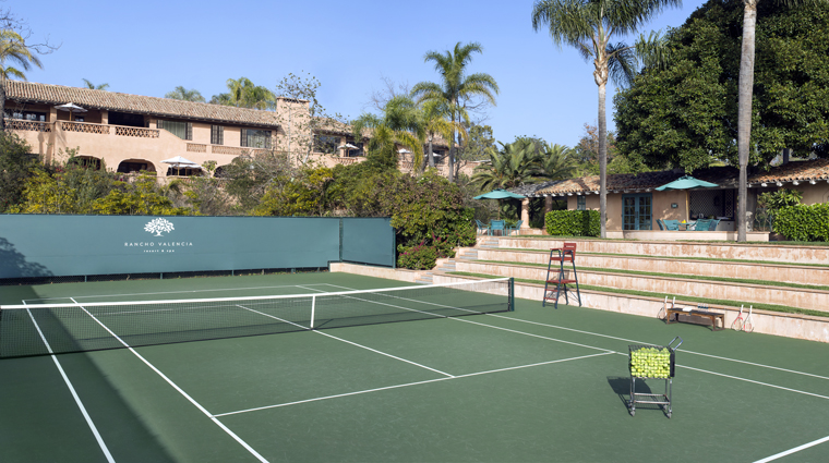 rancho valencia resort spa tennis courts
