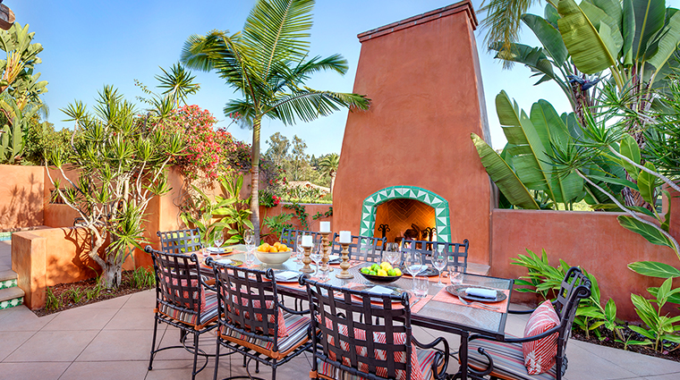 rancho valencia resort spa villa patio dining