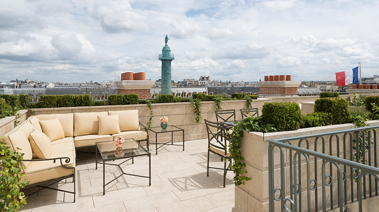 ritz paris Mansart suite terrace