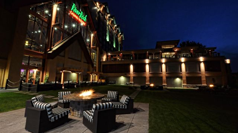 river rock casino resort firepits