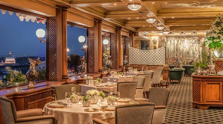 rome cavalieri la pergola restaurant new