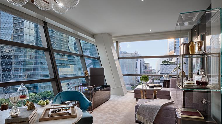 rosewood bangkok manor suite living room