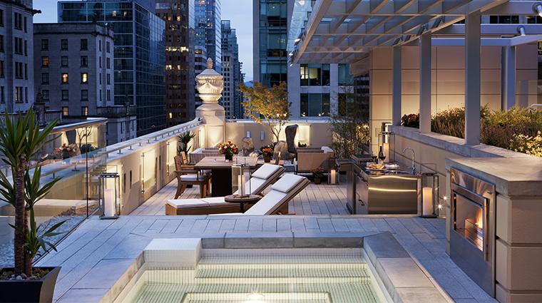 rosewood hotel georgia rosewood suite terrace