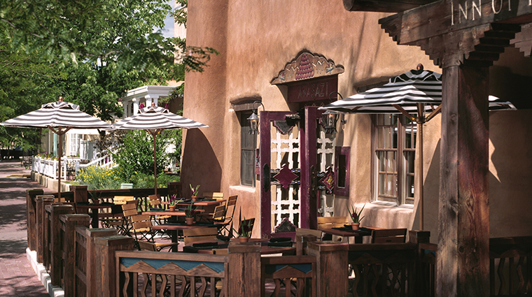 rosewood inn of the anasazi exterior restaurant