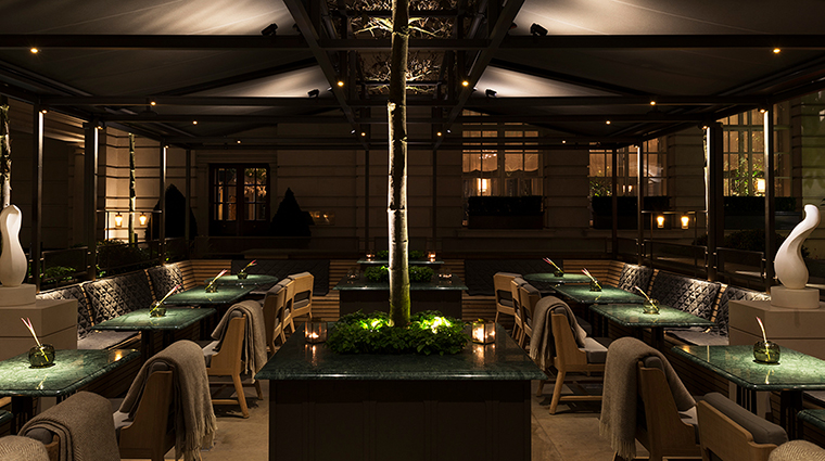 Rosewood London the terrace night