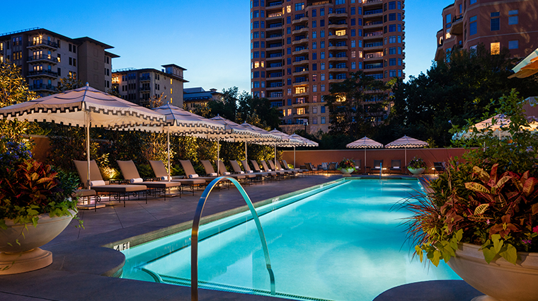 rosewood mansion on turtle creek pool night