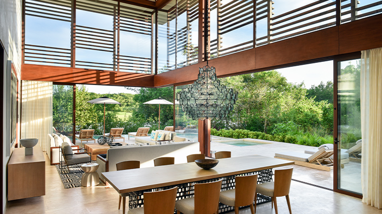 rosewood mayakoba Paraiso Four Bedroom Villa Dining Room view
