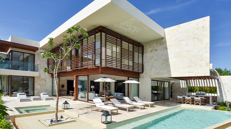 rosewood mayakoba Paraiso Four Bedroom Villa Exterior Day
