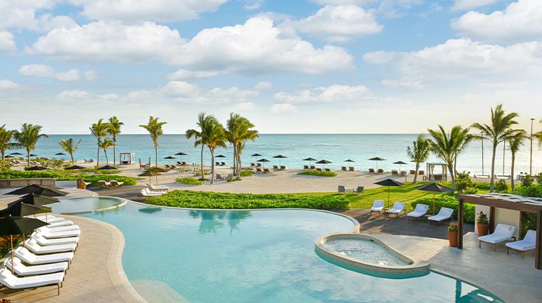 rosewood mayakoba Punta Bonita Pool Deck and Beach view